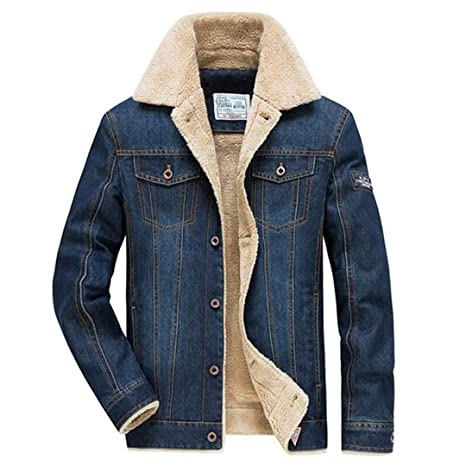 Wlilicici Winter Jeans Thick Warm Mens Jackets Liner Army Military Pockets at Amazon Mens Clothing store: