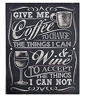 Amazongift craft give me coffee wall sign chalkboard by gift craft gift craft give me coffee wall sign chalkboard by gift craft negle Gallery