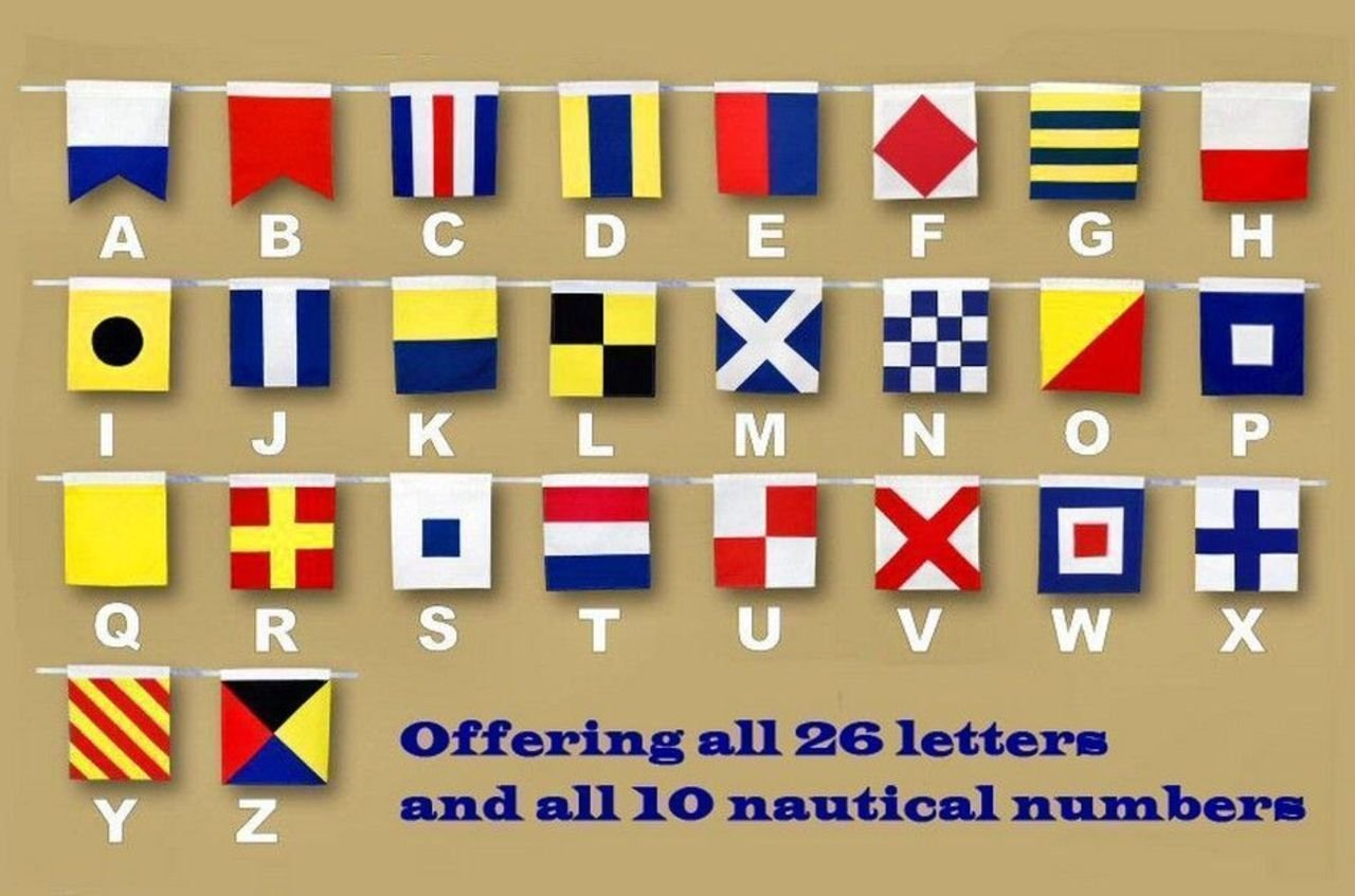 Amazon.com: Hampton Nautical Letter A Nautical Cloth Alphabet Flag ...
