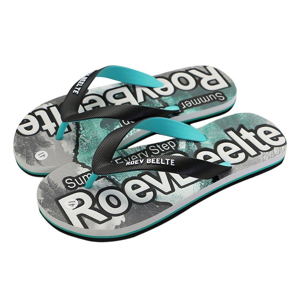 AODEW Flip-Flops Thong Beach Slipper Outdoor Couple Sandals Non-Slip Beach Slippers for Men