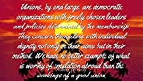 Robert Kennedy - Famous Quotes Laminated POSTER PRINT 24x20 - Unions, by and large, are democratic organizations with freely chosen leaders and policies determined by the membership. They concern the