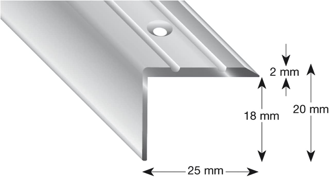 25//10//1000 mm K/ügele 105B SD 100S Treppenwinkel Alu sand eloxiert selbstklebend