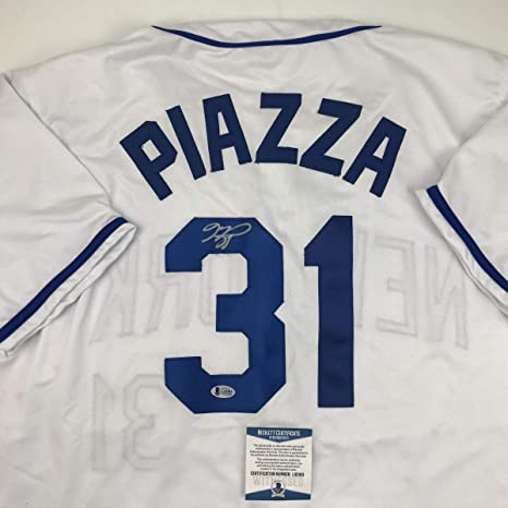 buy popular 842a8 c6d9c Autographed/Signed Mike Piazza New York NY White Baseball ...