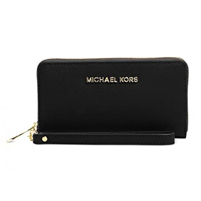 be9f195229fc4d Michael Kors Jet Set Large Smartphone Wristlet in Black: Handbags:  Amazon.com