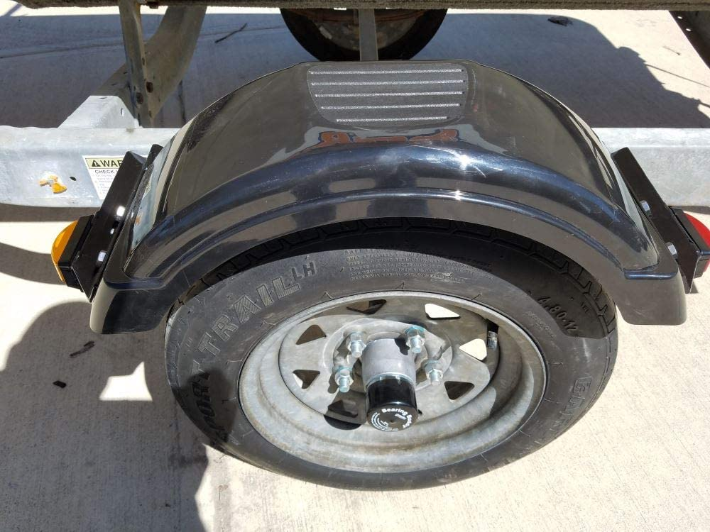 Bearing Buddies for Trailers to Keep Water and Dirt out of Hub and Bearings-2Pairs Bearing Buddy Caps Chrome Buddy Bearing Caps of 1.980 Diameter Trailer Bearing Dust Cap Protector for Trailers