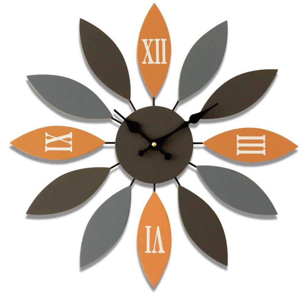 木製時計クリエイティブパーソナリティ装飾ミュートリビングルームベッドルームクォーツウォールクロック,B B07DPQVNZRb