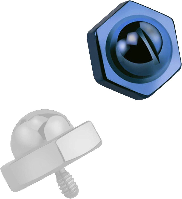 Amazon Com Votrepiercing Blue Anodized Bolt Head Top For Microdermal Piercing Piercing Jewel Standard X 6 Mm Jewelry