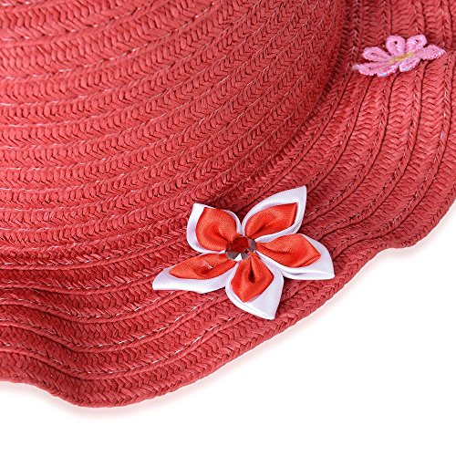 with Cm Multi Adorned Matching Colour 29x15x15x8 Handbag Size Red Hat Flower xw0d8t6Z