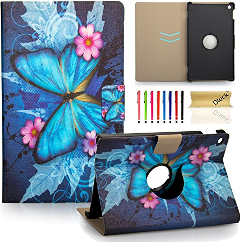 Fire 7 Case, Dteck(TM) Slim Fit Lightweight Flip Stand Leather Case Kids Friendly Protective Cover for Amazon Kindle Fire 7' Tablet 5th Gen 2015 Release, Blue Butterfly