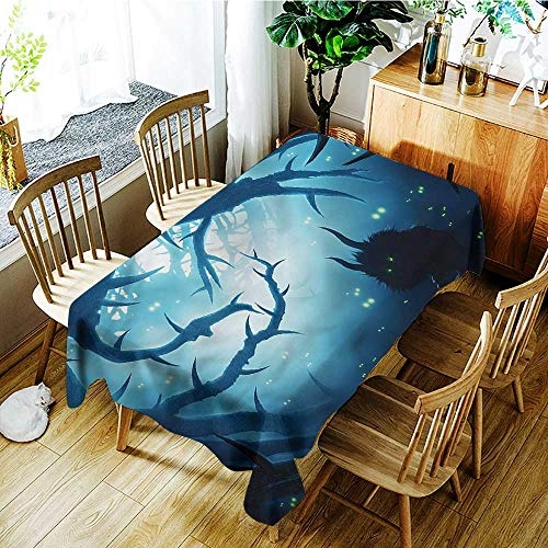 familytaste Mystic,Table Cover Tablecloth Night Forest Halloween 60