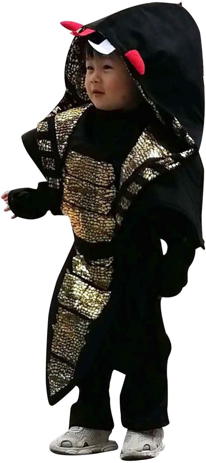 Wraith of East Cobra Ninja Costume Kids Halloween Animal Cosplay Samurai Assassin Boys Jumpsuit with Hood Mask Fancy Dress Outfit M