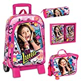 School Bag Trolley Set Soy Luna Disney Backpack LunchBag Pencilcase