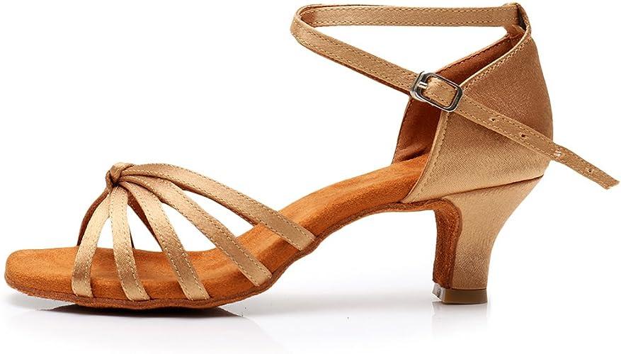YKXLM Women's SatinLatin Dance Shoes Standard Salsa