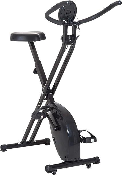 HOMCOM Bicicleta Estática Plegable Bicicleta Magnética Xbike con ...