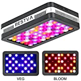 BESTVA Reflector Series 600W LED Grow Light Full Spectrum Grow Lamp for Greenhouse Hydroponic Indoor Plants Veg and Flower