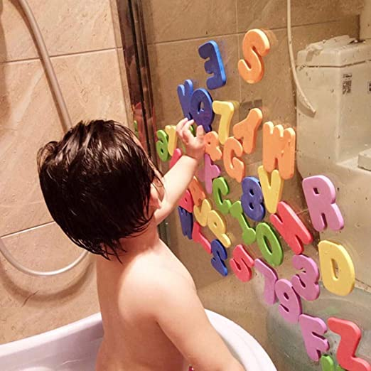 Foam Letters Numbers Bathroom Bath Tub 36pc Child Kid Education Alphabet Toy Set