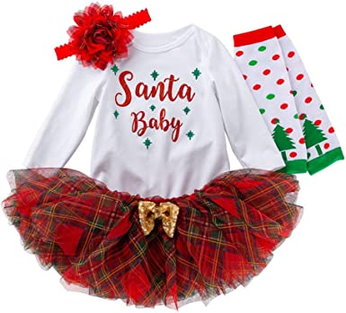 BBSMLIN 0 3-24 Meses Bebe Niña Navidad Disfraz Ropa de Conjunto ...