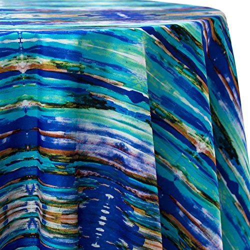 - Ultimate Textile Kaleido 70 x 104-Inch Oval Patterned Tablecloth