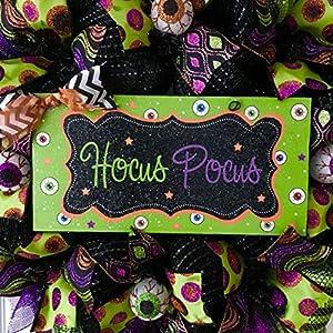 Hocus Pocus Crazy Eyeball Halloween Wreath Handmade Deco Mesh 2