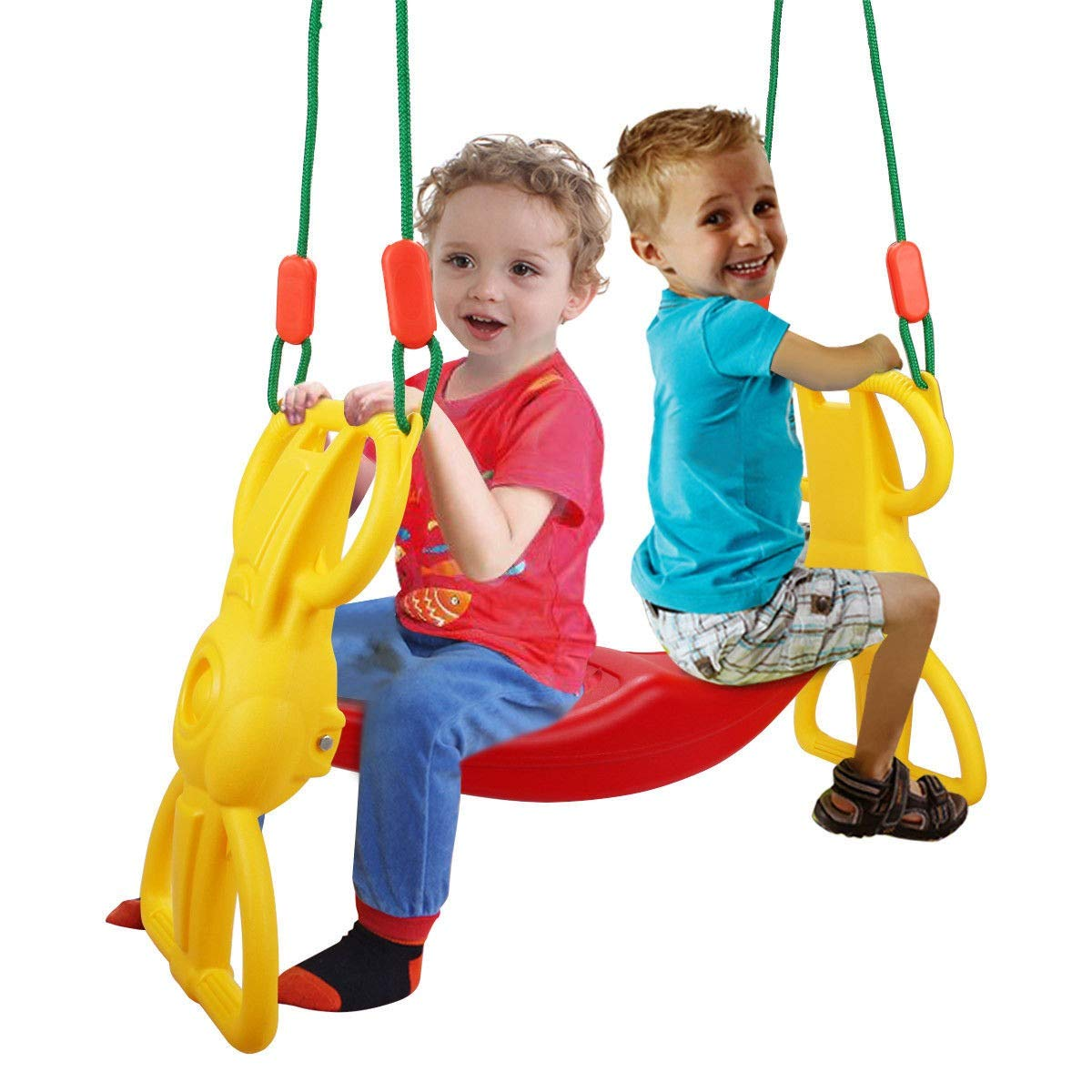 Back to Back Rider Glider Swing For 2 Kids w/ Hangers by Apontus (Image #4)