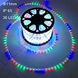 AL LED Rope Lights Christmas Yard Garden Tree Porch Roof Steps Ceiling Eave Decorations Lighting, Multi Color(200 FT)