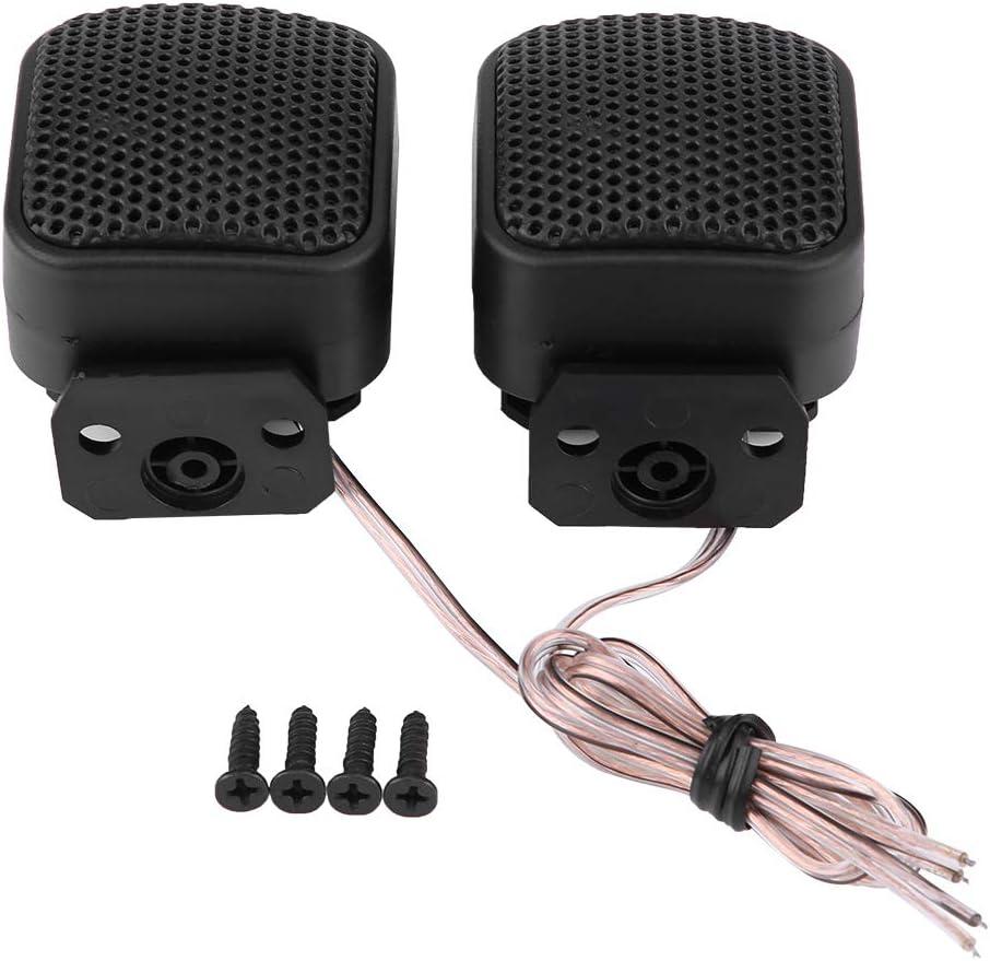 KIMISS Altavoz de audio para automóvil,2 * Tweeters de altavoz universal súper potencia, Altavoz de audio cuadrado del coche