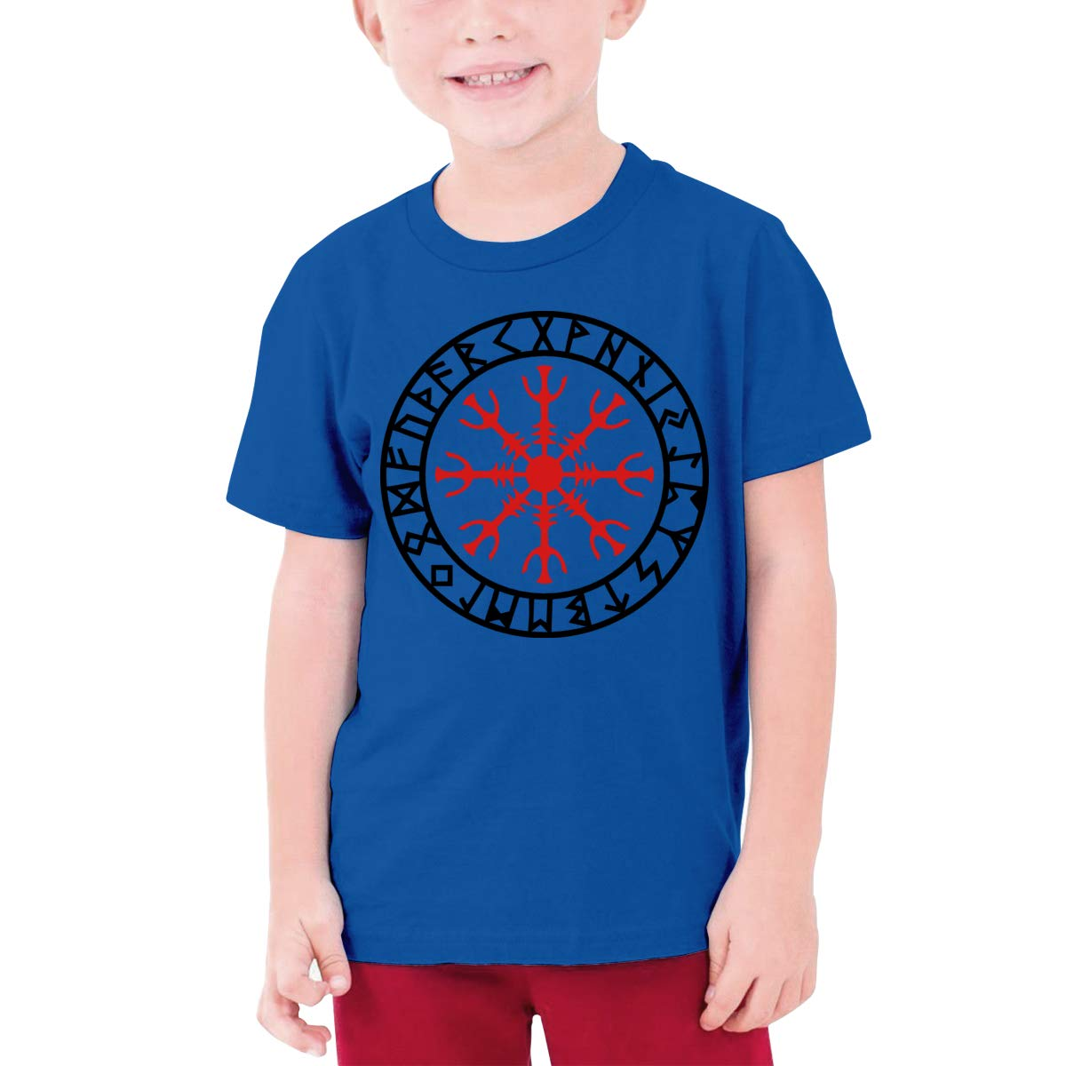 Viking Compass Red Boy Short-Sleeved T-Shirt