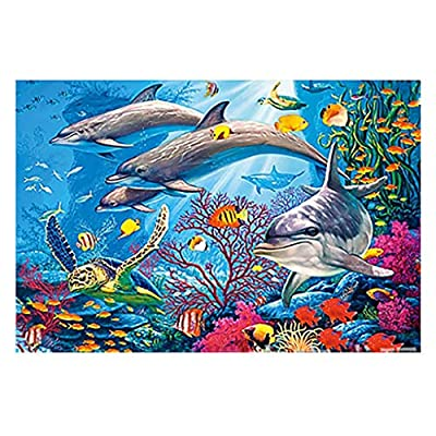 Puzzles for Adults 1000 Piece Adult DIY Animal Landscape Pattern Picture Jigsaws Puzzle Family Game Personalized Gift at Home Game (F): Toys & Games