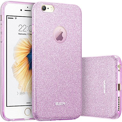 ESR Makeup Glitter Case for iPhone 6s/6, ESR Luxury Glitter Sparkle Bling Designer Case [Slim Fit, Hard Back Cover] Shining Fashion Style for Apple iPhone 6/6s 4.7