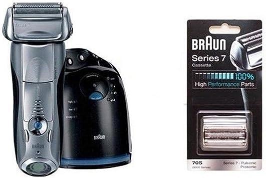 Braun Serie 7 790cc-4 Entrega los hombres de afeitar recargable + 70S Serie 7 de láminas y cuchillas 1Ea Dhl: Amazon.es: Salud y cuidado personal