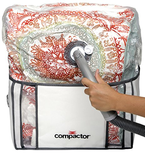 Compactor Classic Space Saver Vacuum Storage Solution with Vacuum Bag to protect Clothes, Pillows, Duvets, Comforters, Blankets - Medium - Space View Saver