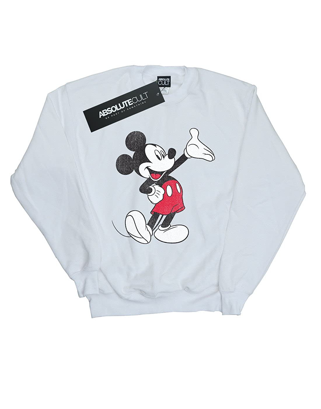 Disney Mens Mickey Mouse Traditional Wave Sweatshirt