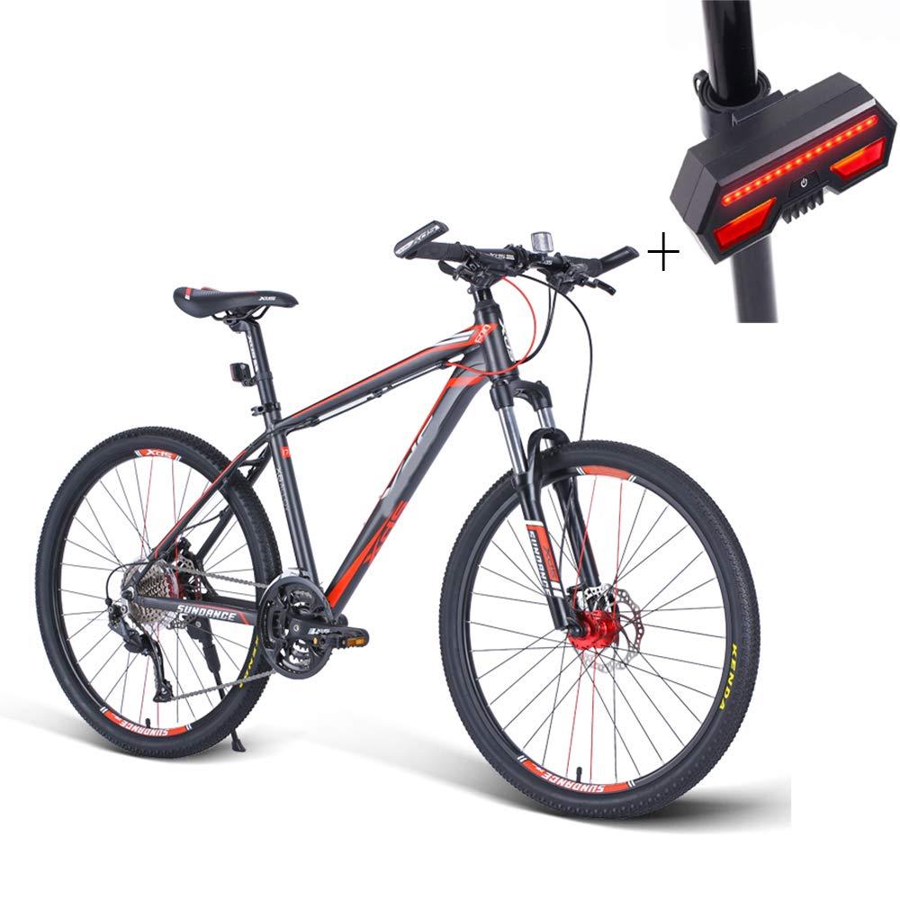 自転車、マウンテンバイク、26インチ27スピードディスクダブルブレーキアルミニウム合金高レンジオフロード車、+自転車ターンシグナル   B07GWSF2Y1
