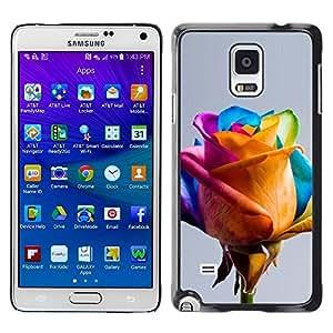 rígido protector delgado Shell Prima Delgada Casa Carcasa Funda Case Bandera Cover Armor para Samsung Galaxy Note 4 SM-N910F SM-N910K SM-N910C SM-N910W8 SM-N910U SM-N910 /Colorful Yellow Blue Pink Spring/ STRONG