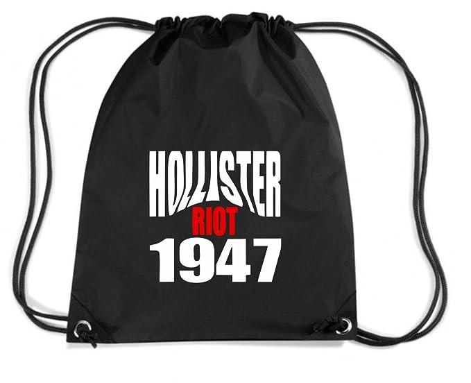 T-Shirtshock - Mochila Budget Gymsac OLDENG00523 hollister riot 1947, Talla Capacidad 11 litros: Amazon.es: Ropa y accesorios