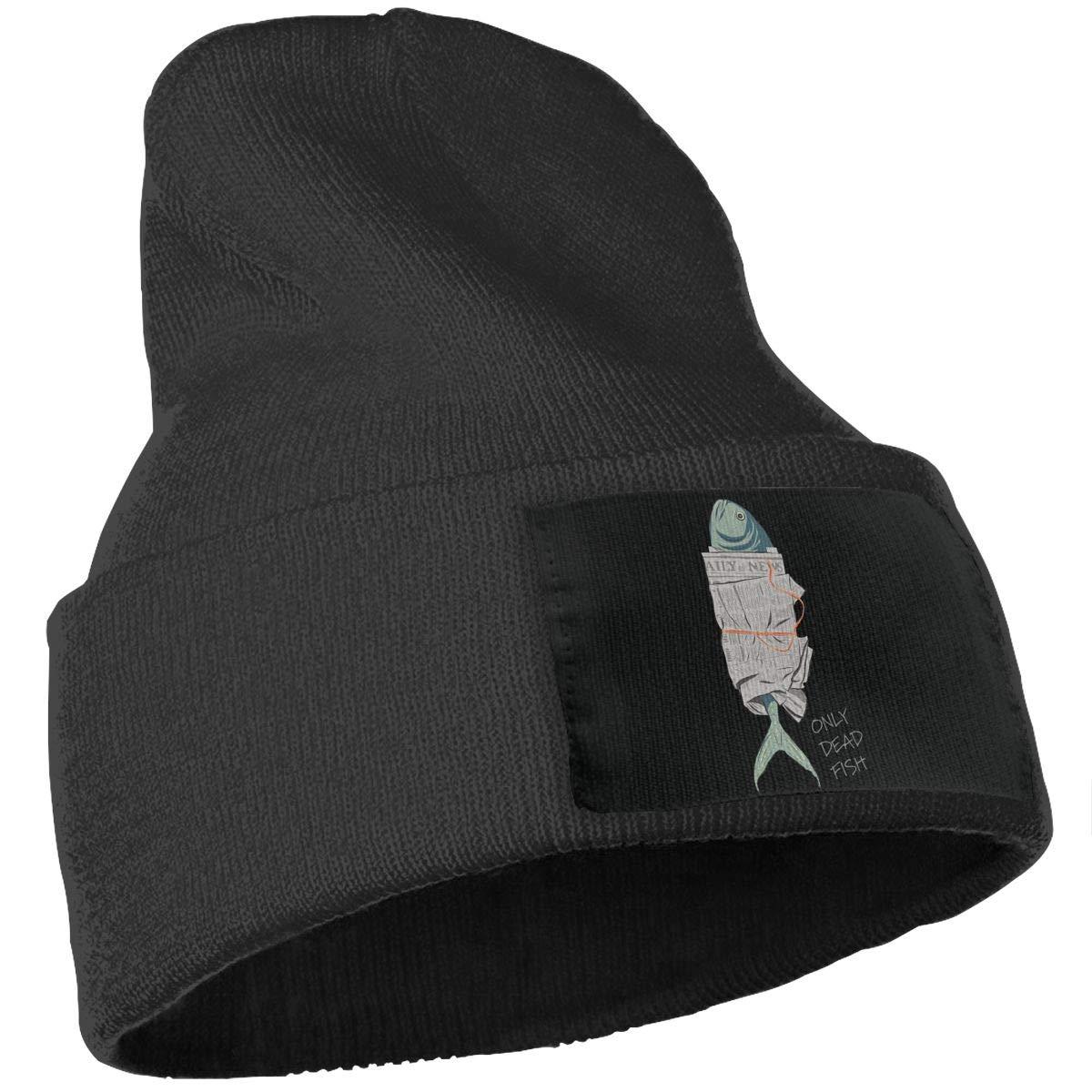 SLADDD1 Only Dead Fish Warm Winter Hat Knit Beanie Skull Cap Cuff Beanie Hat Winter Hats for Men /& Women