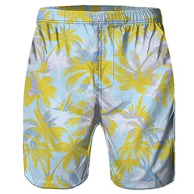 Pantalones Cortos Hawaiana para Hombres Bañadores de Natación Tallas Grandes Fitness Deporte Impresión de Moda Ligero Transpirable Surf Corriendo Nadando ...
