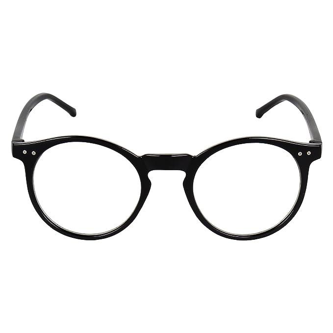 b50cd18f71 David Martin Anti-Glare Full Rim Round Eyeglasses Frame-Black  Amazon.in   Clothing   Accessories