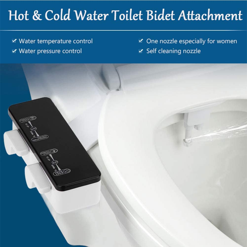Bidet Toilet Attachment bei White Internal Valve Nozzle Guard Easy zu Install