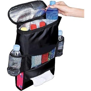 ÔNBAY Auto Car Back Seat Multi Pockets Storage Organizer Holder Insulation Bag Audio Integration Devices Black