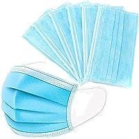 Tehwde Universele stofmasker, 30 stuks, 3-laags filter, 99% bacteriën, stofbescherming, mondmasker, gezichtsbescherming…