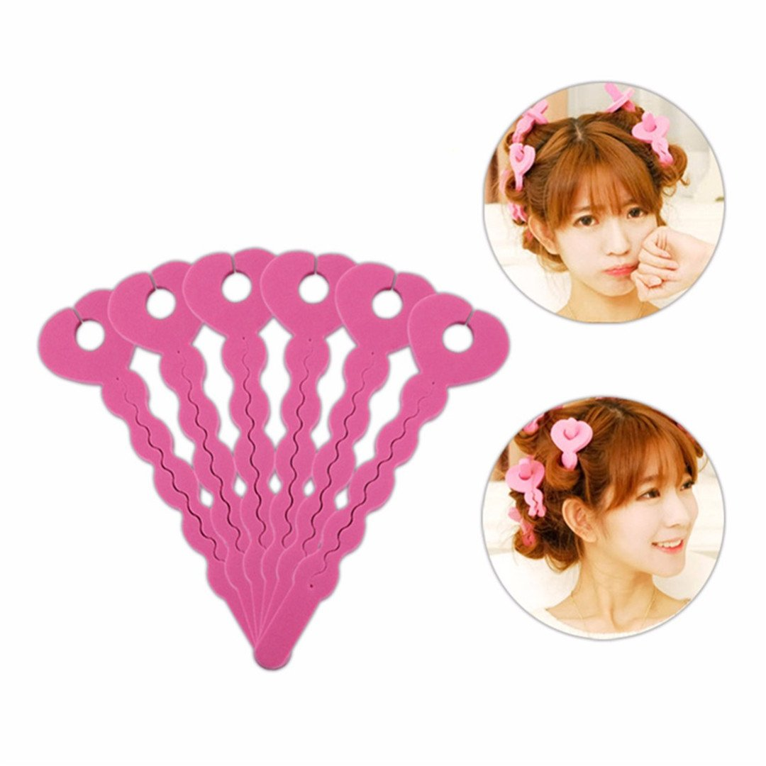 6Pcs/Set Foam Rollers Sponge Hair Care Soft Hair Curler Hair Styling Hair Roll Rollers DIY Tools For Women Beauty