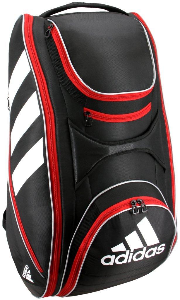 adidas Tour Tennis 12 Racquet Bag, Black/White/Scarlet, One Size