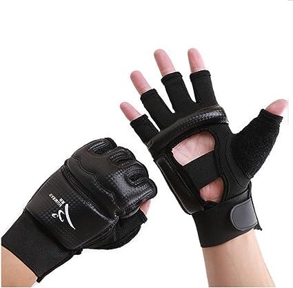 Taekwondo//Muay Thai Training//Punching Bag Gym Half Mitts Sparring Gloves Wonzone Half Finger Taekwondo Training Boxing Gloves