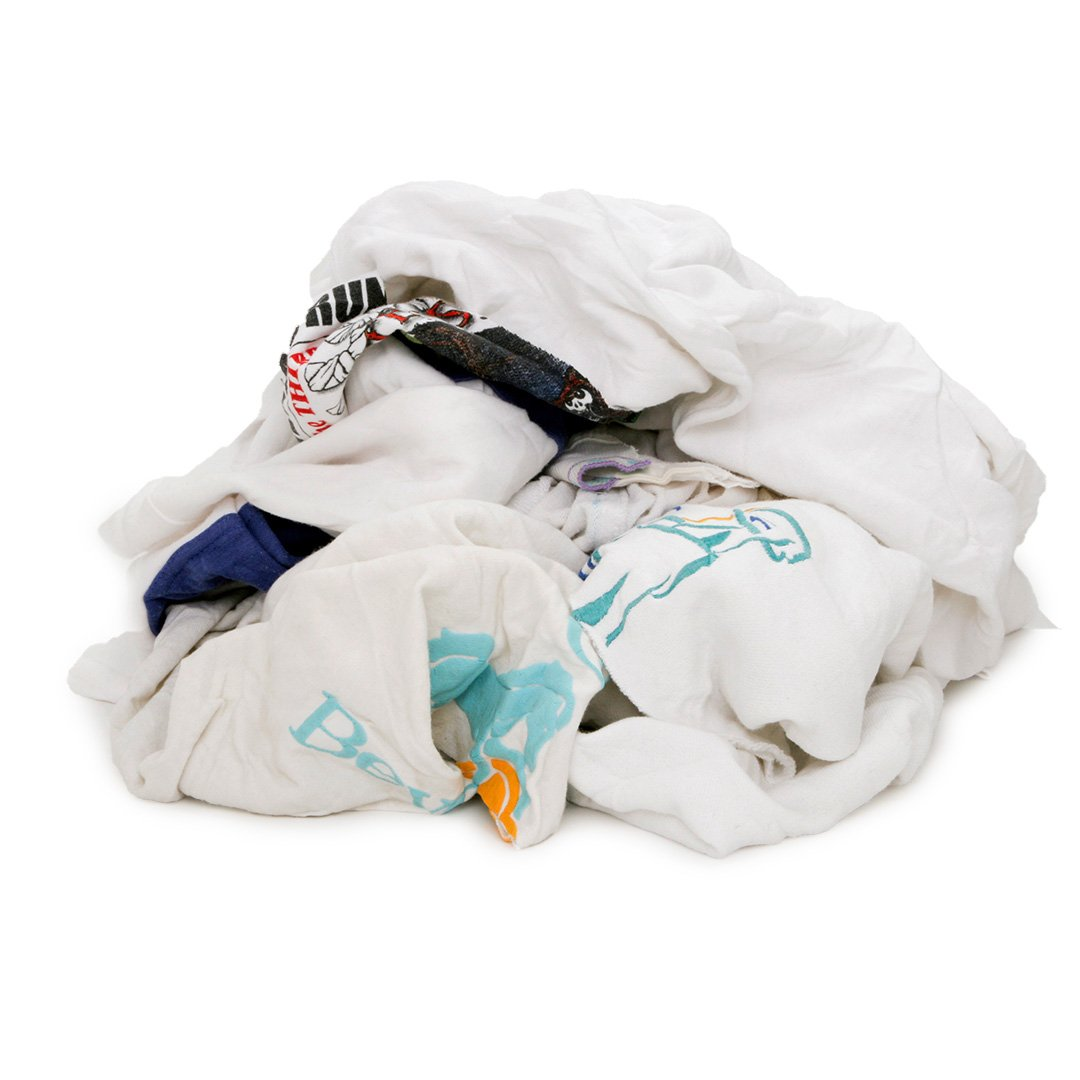 Pro Clean Basics A99701 Recycled T Shirt Cloth Rags 4 lb. Bag Multicolored