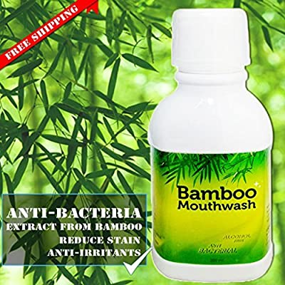Bamboo Mouthwash without alcohol for Adults and Kids - Bamboo Extract 10.14 Oz. , Alcohol-Free, Teeth Whitening, Fresh Breath, Remove Tartar and Stains from Food, Coffee, Tea, Smoking and Prevent Plaque
