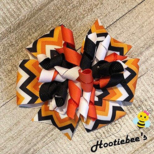 Halloween Chevron Suzie Q Korker Hair -
