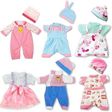 ARTST Baby Doll Clothing – 6 Outfits & 5 Hats