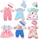 ARTST Doll Clothes,12 inch Baby Doll Clothes 6 Sets Include 5 Caps fit for 10 inch Dolls /11 inch Baby Dolls/ 12 inch Baby Do