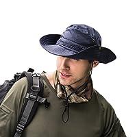 Balai Cappello da Sole Protezione UV Largo Cappello Cappello Pescatore  Cappelli Uomo Estivo Tesa Larga Anti c5cc28677049